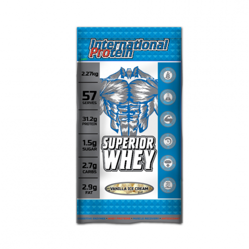 International Protein Superior Whey flavor Vanilla ice cream